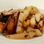 Σολομός με πατάτες